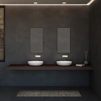 24 Inch Unique Bathroom Solid Surface Abovecounter Basin