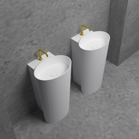 Stylish White Oval Base Sink
