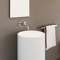 Wall-mount basin mixer