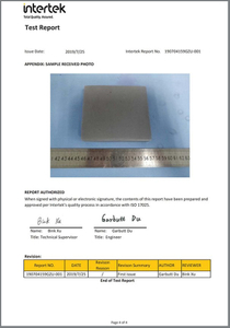 Color fastness test report