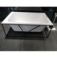Square Freestanding Bathtub with Iron Frame