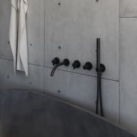Matte black Wall-mount bathtub mixer