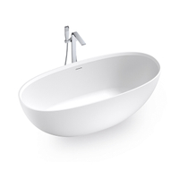 67 Inch High-end White Freestanding Bathtub