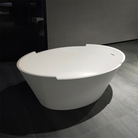 59 Inch Comfortable Oval Freestanding Bathtub