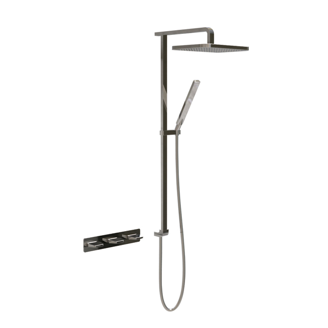Dual-handle concealed shower set