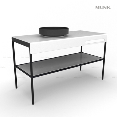 51 Inch Floorstanding Round Basin with Cabinet