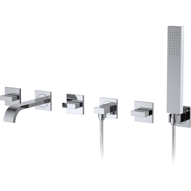 Wall-mount bathtub mixer for luxury bathroom