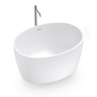 Mini Round Solid Surface Freestanding Bathtub