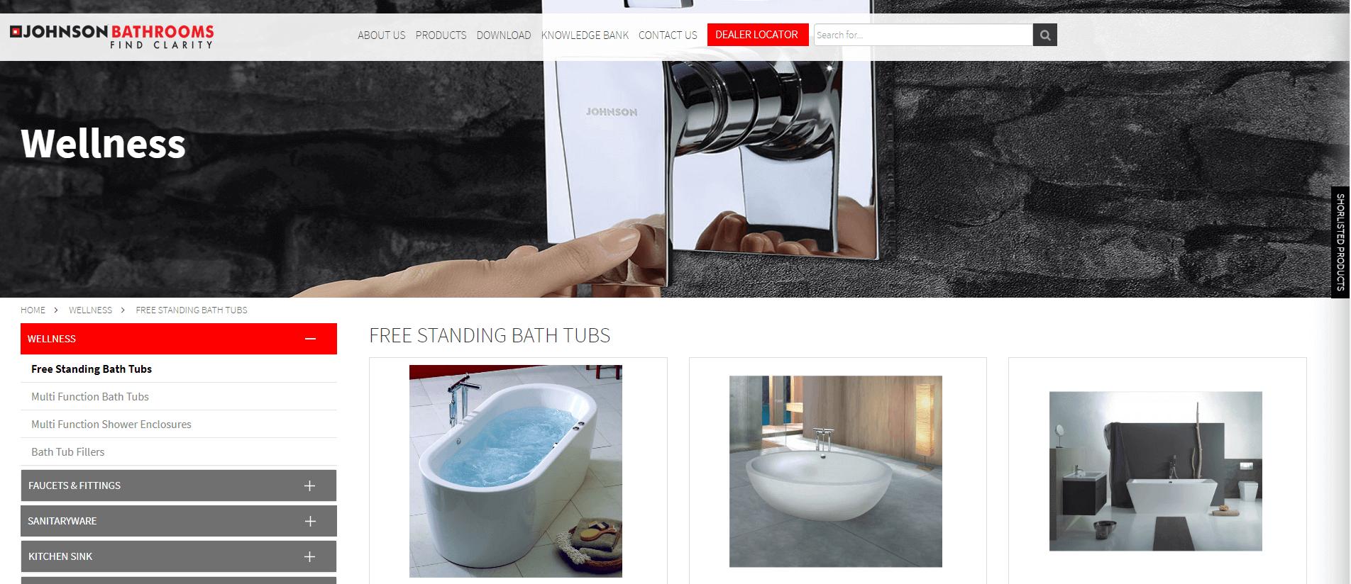 Johnson Bathrooms Bathtub Manufacturer