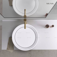 17 Inch Modern Round Above Counter Basin