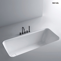 55 Inch Classic Rectangular Drop-in Bathtub
