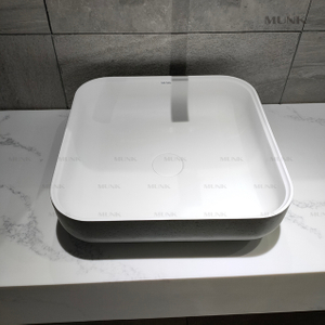 17 Inch Matte White Above Counter Basin