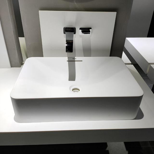 Solid Surface Rectangular Above Counter Basin