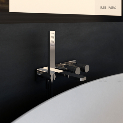 Modern Wall-mount bathtub mixer in Chrome