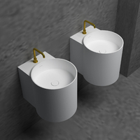 Matte White Small Wall-hung Basin