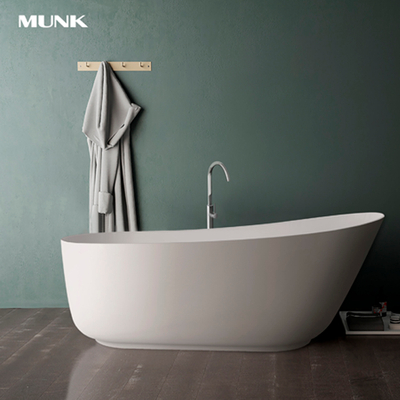 59 Inch Matte White Freestanding Bathtub